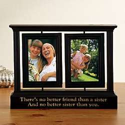 Personalized Distressed Swivel Photo Frame