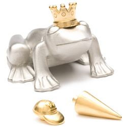 Frog Prince Pewter Paperweight