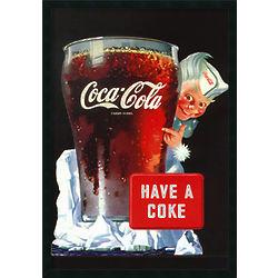 Have A Coke Framed Coca-Cola Poster