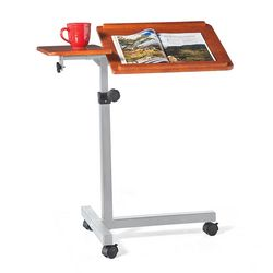 Portable Wood Laptop Desk with Casters