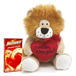 I Ain't Lion Plush Animal With Hot Tamales Candy