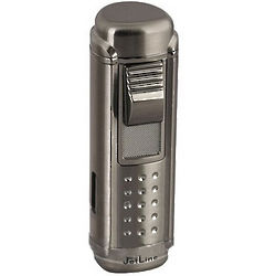 Jetline Magna Quad Flame Gun Metal Lighter