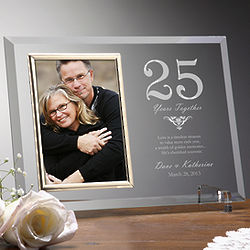 Years Together Engraved Anniversary Picture Frame