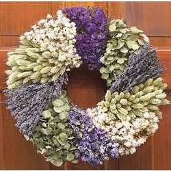Large Lavender Patchwork Wreath