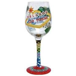Las Vegas Wine Glass