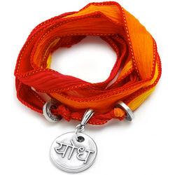 Silk Wrapped Warrior Soul Wrap Bracelet