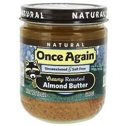 Natural Creamy Roasted Almond Butter Unsweetened & Salt Free