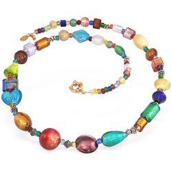 Multicolor Murano Glass Bead Necklace