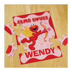 Personalized Elmo Valentine Puzzle