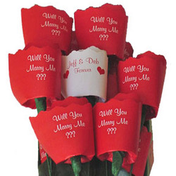 Will You Marry Me Paper Roses