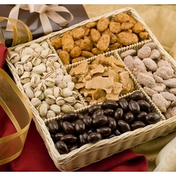 Gourmet Nuts and Sweets Gift Basket