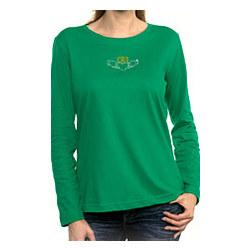 Scoop Neck Long Sleeve Claddaugh Shirt