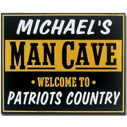 Go Team Personalized Man Cave Sign
