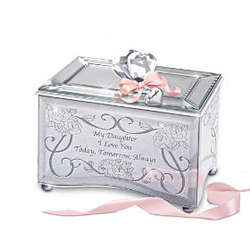 Personalized My Daughter, I Love You Music Box