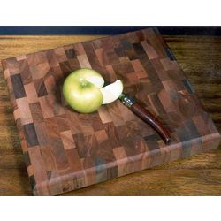 Small Wood Mosaic Butcher Block