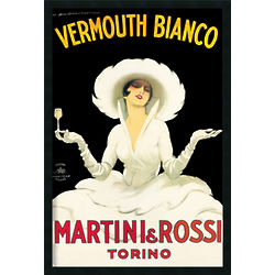 Martini & Rossi Vermouth Framed Poster Print