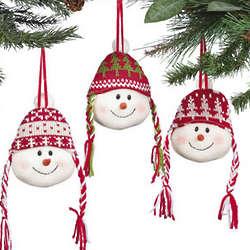 Snowmen Head Ornaments