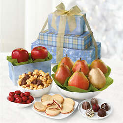 David's Winter Fruit and Snack Tower