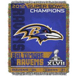 Baltimore Ravens Super Bowl XLVII Champions Tapestry Throw