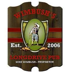 Personalized Long Drive Vintage Pub Sign