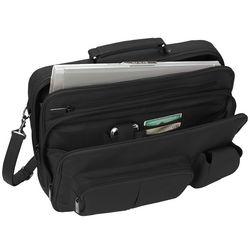 Traveler's Organized Leather Laptop Bag