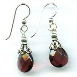 Sterling Silver and Purple Quartz Briolette Earrings