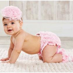 Pink Chiffon Rosette Bloomer