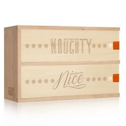 Personalized Naughty or Nice Holiday Wine Box
