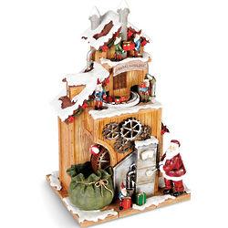 Animated Santa's Workshop Figurine