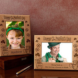 Personalized St. Patrick's Day Wooden Picture Frame