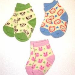 Organic Animal Print Infant Socks