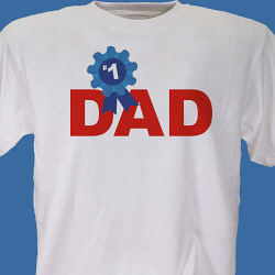 #1 Dad Personalized T-Shirt
