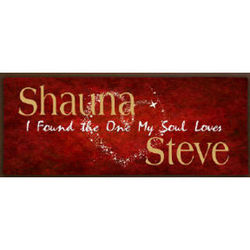 The One My Soul Loves Personalized Wall Canvas