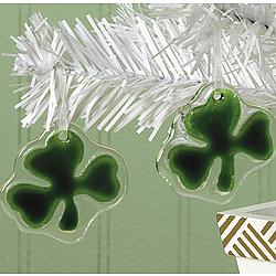 Shamrock Glass Ornament Set
