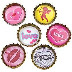Romance Bottlecap Magnets