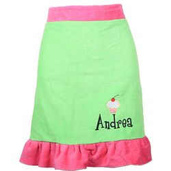 Personalized Ruffled Terry Waist Apron