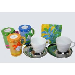 Cappuccino Cups and Mix Gift Set