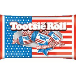USA Flag WrapperTootsie Rolls