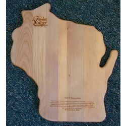 Wisconsin Shaped Small Wooden Cutting Board