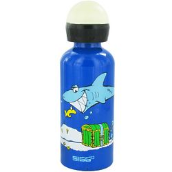 White Shark In The Dark Aluminum Water Bottle For Kids