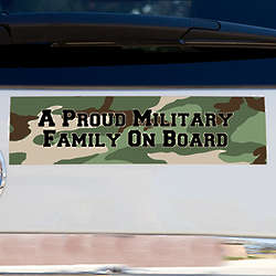 Personalized Camo Military Family Car Magnet