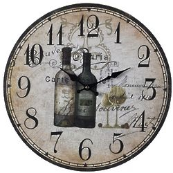 Antique Wine Bottle Clock