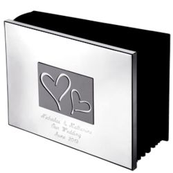 Engraved Horizontal Hearts Photo Album