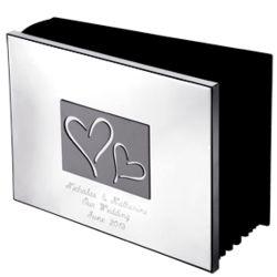 Engraved Horizontal Hearts Photo Album