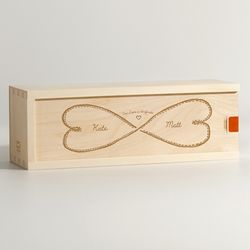 Infinite Love Personalized Wine Box