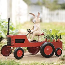 Farmer Rabbit Handmade Metal Garden Decor