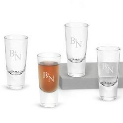 Big Shot Glasses with Monogram