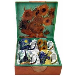 4 Van Gogh Bone China Mugs