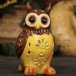 Solar Ceramic Owl Garden Light