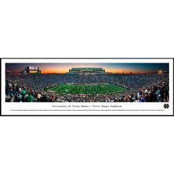 Notre Dame Football Stadium End Zone Panorama Framed Print